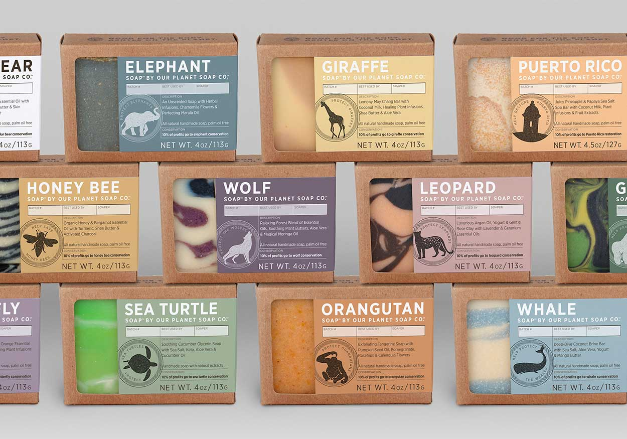 Our Planet Soap - Sustainable Packaging - Branding