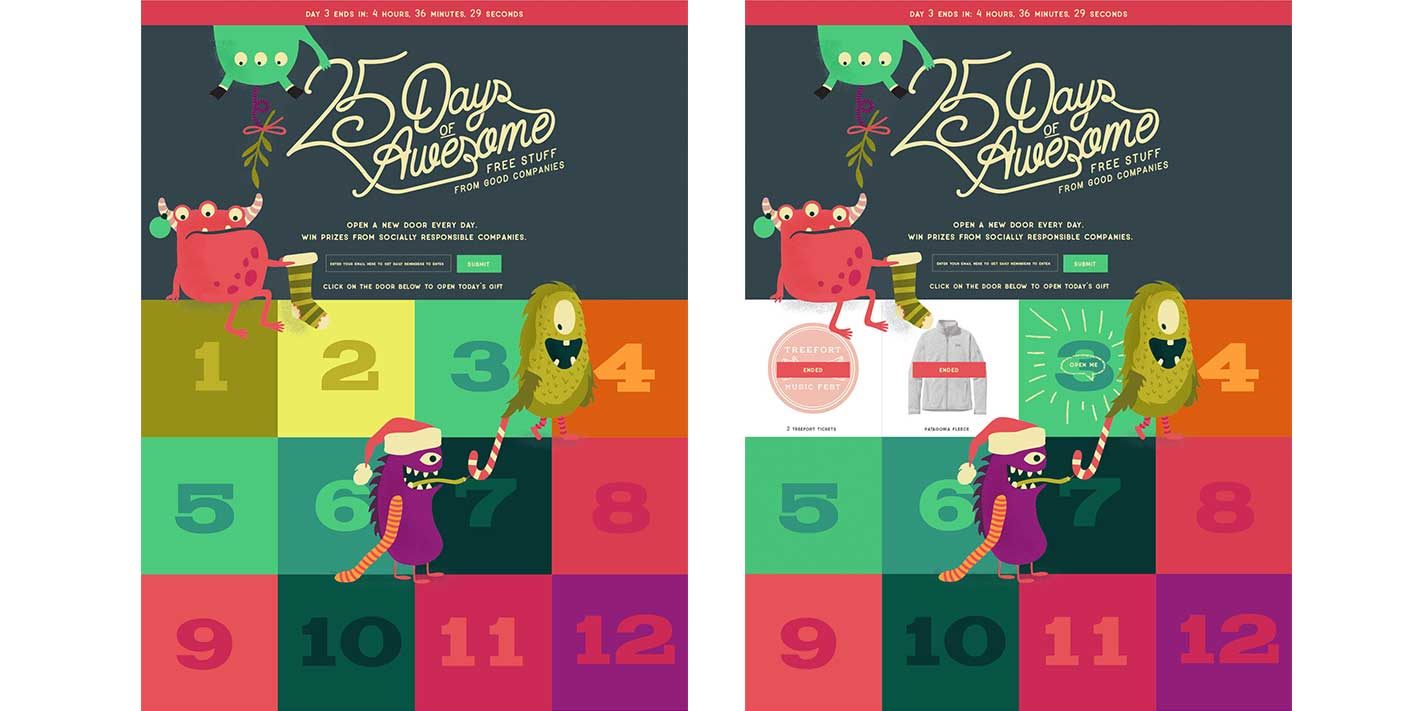 25 Days of Awesome - Website - B Corporation Promotion