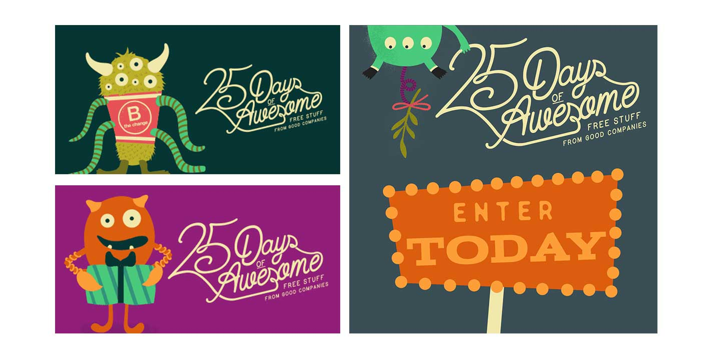 25 Days of Awesome - Brand Identity - Concept - B Corporation Promotion